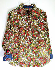 Talbots Paisley Floral Long Sleeve Button Down Shirt 12 Blouse