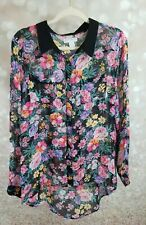 COTTON ON FLORAL BLOUSE SIZE LARGE