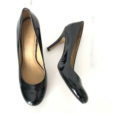 Nine West Women's Black Patent Leather High Heels Pumps Classic Shoes Size 6.5 M