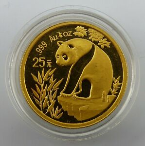 CHINA - 25 Yuan - Panda - 1/4 oz / Unze Gold 999 - 1993 (778)