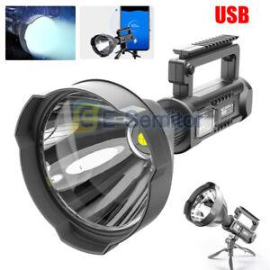 200000LM P70 LED USB Recharge Flashlight Work Light Spotlight Searchlight 4 Mode