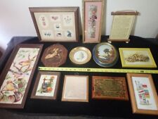 lot of 12 vintage decorative wall hangings pictures