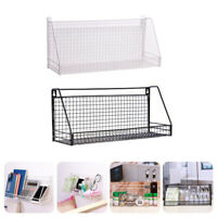 Industrial Wall Mounted Shelf Unit Metal Wire Floating Shelves Home Storage Rack