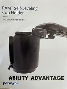 NEW: Permobil SELF LEVELING CUP HOLDER by Ram Mfg. - FRESH STOCK