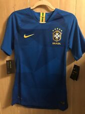 NIKE BRAZIL VAPORKNIT VAPOR MATCH AWAY JERSEY WORLD CUP 2018 893587 453 Size S
