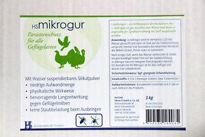 HS Mikrogur 5 1kg - Kieselgur Spritzmittel zur Bekämpfung der roten Vogelmilbe