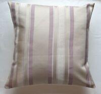 """16"""" Laura Ashley 'Forbury Stripe' Amethyst cushion cover"""