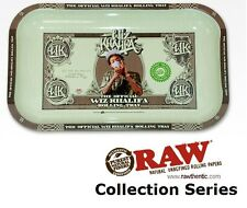 """Wiz Khalifa Metal Rolling Tray 7""""x11"""" Rare Limited Edition made by RAW Papers"""