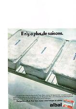 PUBLICITE  1978   ALBAL    barquettes congélation