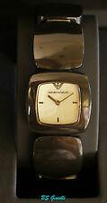 ARMANI AR 1304 orologio donna nuovo bracciale rigido bachelite nero  mm 26,00