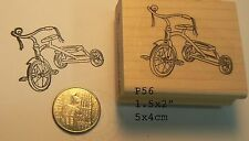 Trike, bicycle rubber stamp P56