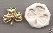 CELTIC CLADDAGH CLOVER Polymer Clay Push Mold HANDMADE