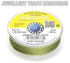 Vert jade chaîne la soie fil 0,33 mm stringing perles & perles Griffin taille 5 / E