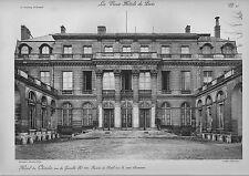 """large illustration from """" les vieux hotels de paris """"  hotel de chatelet  !"""