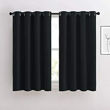 NICETOWN Window Curtains Blackout Drapes - Black Energy Saving Blackout Draperie