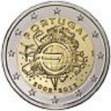 PORTUGAL 2 Euros Commémorative 10 ans de la Monnaie Euro 2012