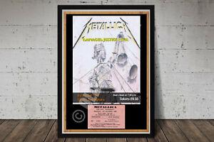 Metallica Vintage Concert Poster + Ticket Top Hat Dublin Ireland 1988  Repro.