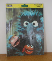 sesame street orignal jim henson muppet jigsaw from 1981 hairy monster !