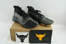 Under Armour Project Rock 1 Shoes Black & Green 3020788-002 Men's Size 9.5