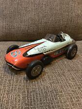 "Vintage Japan Yonezawa Tin Indianapolis 500 Ford Indy Toy Race Car 15"""
