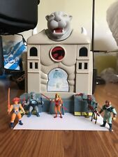 GLASSLITE THUNDERCATS VINTAGE CATS LAIR MINI FIGURES PLAY SET  ULTRA RARE BRAZIL