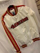 Vintage SF 49ers STARTER Jacket SATIN NFL LARGE TO 2XL