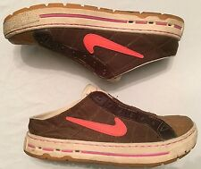 NIKE Shell Top Mule Sneaker Women's 7.5 Low Top Slip-On 315848-381 Brown/Orange