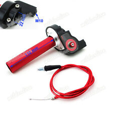 Red Handle Throttle Cable For Pro XR50 CRF50 KLX110 SSR Thumpstar Pit Dirt Bike
