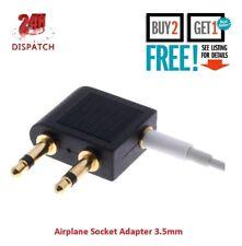 Airplane 3.5mm Plug Jack Socket Converter Aircraft Flight Headphone Adapter