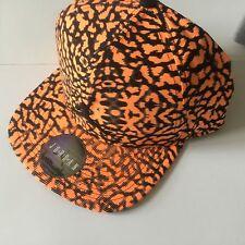 NIKE AIR JORDAN JUMPMAN  SnapBack Cap.  Black/Orange. OSFM