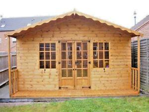 14x14ft Georgian Hi-Pex Summerhouse