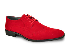 Really Nice New Men's Red Wing Tips Faux Suede All Sizes TUXXMAN QUALITY