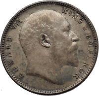 1906 King EDWARD VII of United Kingdom EMPEROR British INDIA Silver Coin i45276