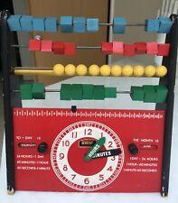 Brio Wooden Abacus & Clock Calendar Educational Toy 1960's SWEDEN TLC needed