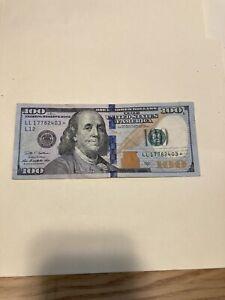 2009A $100 DOLLAR BILL Star Note - San Francisco - Serial Number: LL17782403