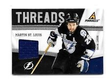 MARTIN ST.LOUIS 2011 PINNACLE THREADS GAME USED JERSEY