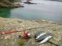 MACKEREL FISHING ROD & SPINNING REEL GARFISH FLOAT FISHING SPINNERS FEATHERS ROD
