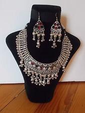Parure, Collier Tribal et Boucles d'oreille ,  Artisanat Inde,  Kutch Gujarat 30