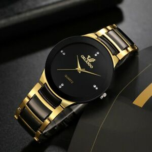 ORLANDA Men Stainless Steel Quartz Watch Casual Wristwatch Relogio Masculino