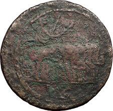 TRAJAN in Chariot of Elephants 111AD Alexandria Egypt Drachm Roman Coin i56363