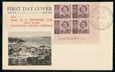 Australia Fdc 1947 Cover Queen Elizabeth Ii Corner Block