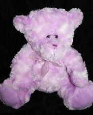 """Goffa Purple Swirl Plush TEDDY BEAR 12"""" Stuffed Soft Toy Animal Bow 2013 Tie Dye"""
