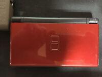 NINTENDO DS LITE Crimson Red/Black Handheld Console NICE W/ CARRY CASE
