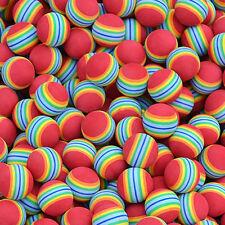 2pcs Small Coloured Pet Cat Kitten Soft Foam Rainbow Play Balls Activity Fun Toy