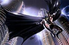 Greg Horn SIGNED DC Comic Super Hero Art Print ~ Batman Over Gotham City