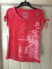 Next Pink Short Sleeve South Beach Cotton Top Size 16 Bnwt