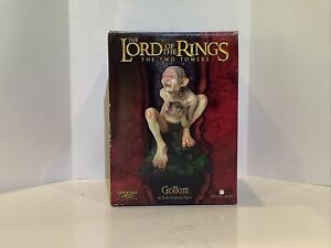 """SIDESHOW Weta GOLLUM THE TWO TOWERS 7"""" STATUE SHIPPER SEALED FIGURINE 1/6 Scale"""