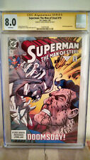 Superman: The Man of Steel #19 CGC 8.0 AUTOGRAPHED by LOUISE SIMONSON