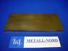 ZUSCHNITT Messingplatte 200x100x10mm Ms58 CuZn39Pb2 brass plate sheet Ms Blech