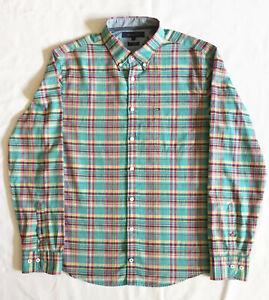 TOMMY HILFIGER New York Fit Hemd Gr. L 100% Cotton langaarm Karo Button-Down